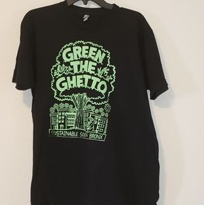 Green The Ghetto Tshirt Large